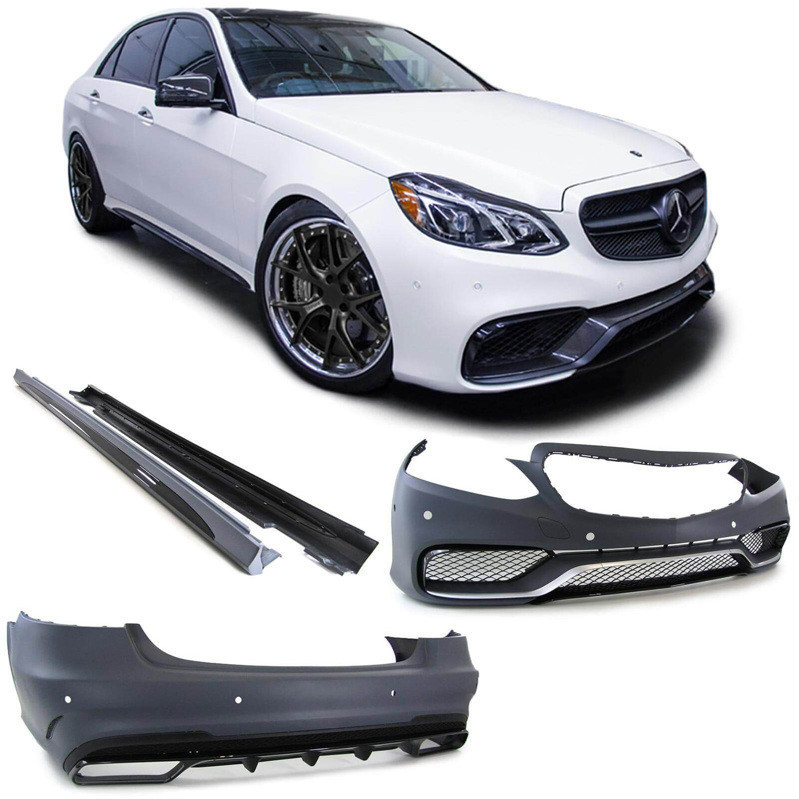 body kit mercedes benz w212 e class facelift 2013 up e63. Black Bedroom Furniture Sets. Home Design Ideas