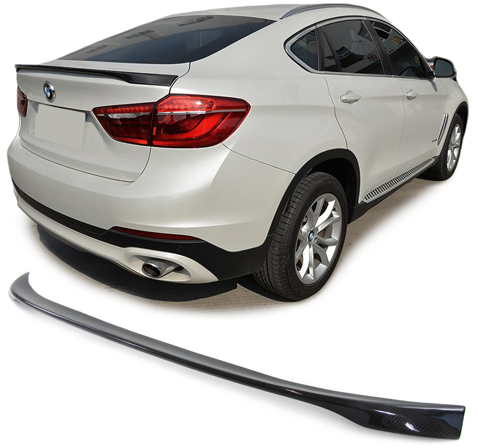 BMW X6 F16 CARBON REAR BOOT TRUNK LIP SPOILER