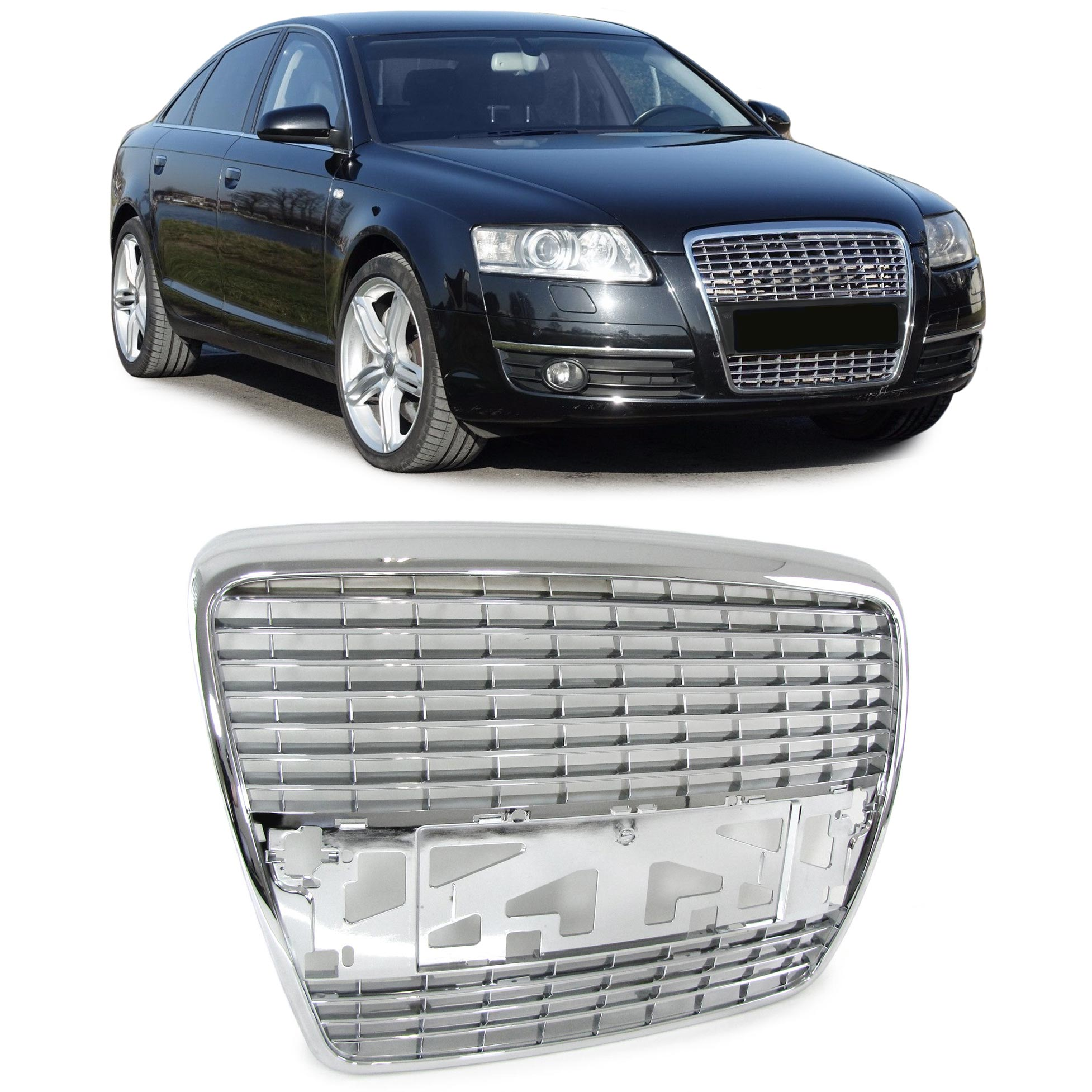 Audi A6 C6 4G Limo Avant 04-11 Front Grill Without Badge