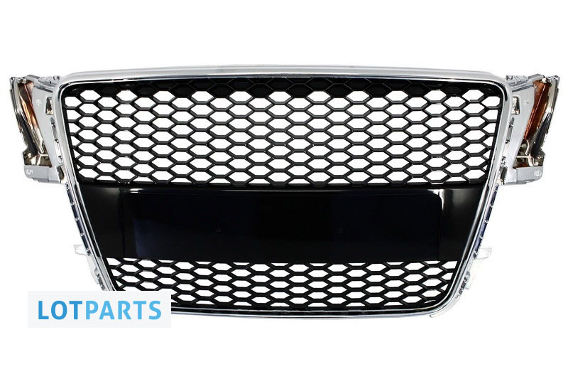 Front Grille For Audi A5 8T Sportback//Coupe//Cabrio RS5 Look Badgeless Piano Blac