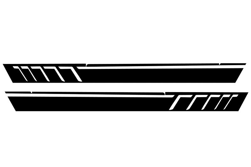 Side Decals Sticker Vinyl Matte Black Mercedes G-class ...
