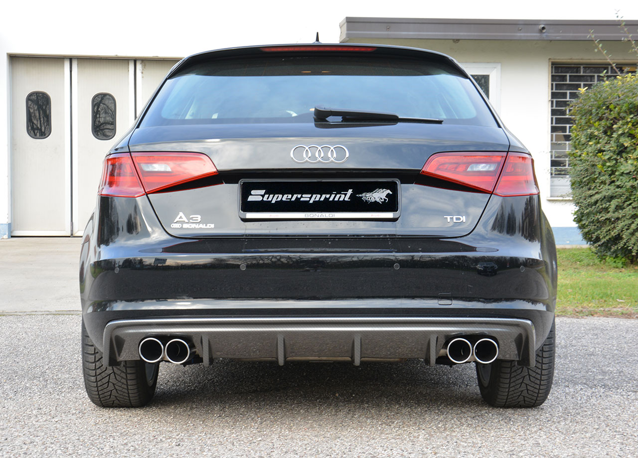 audi a3 8v saloon 12 15 rear bumper diffuser s3 look. Black Bedroom Furniture Sets. Home Design Ideas