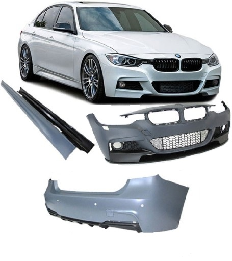 Bmw F30 2011 Up Full Body Kit M Performance Look With Double Twin