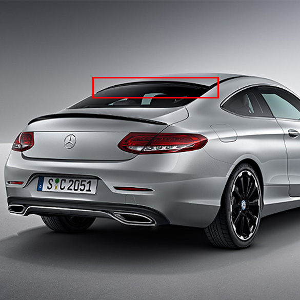 roof spoiler c class coupe c205 original mercedes benz. Black Bedroom Furniture Sets. Home Design Ideas