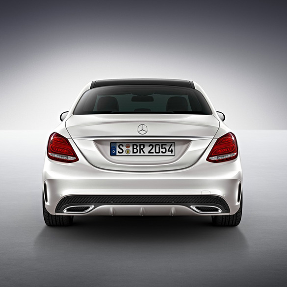 genuine mercedes benz amg rear bumper c class w205. Black Bedroom Furniture Sets. Home Design Ideas