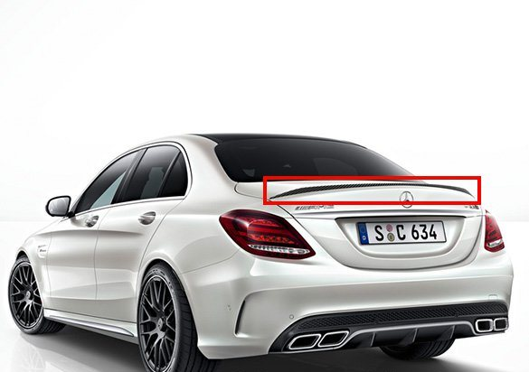 Amg Boot Trunk Spoiler C Klasse W205 Original Mercedes Benz