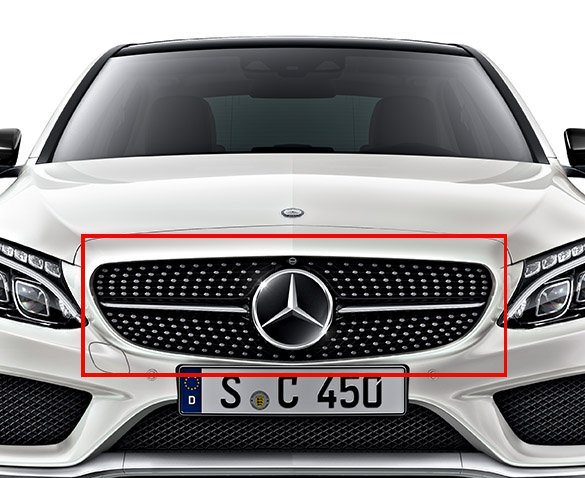 c 43 amg c 450 diamond grill with 360 camera c class. Black Bedroom Furniture Sets. Home Design Ideas