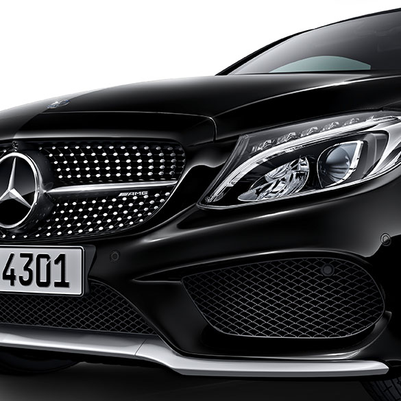 c 43 amg logo diamond radiator grille c class w205. Black Bedroom Furniture Sets. Home Design Ideas