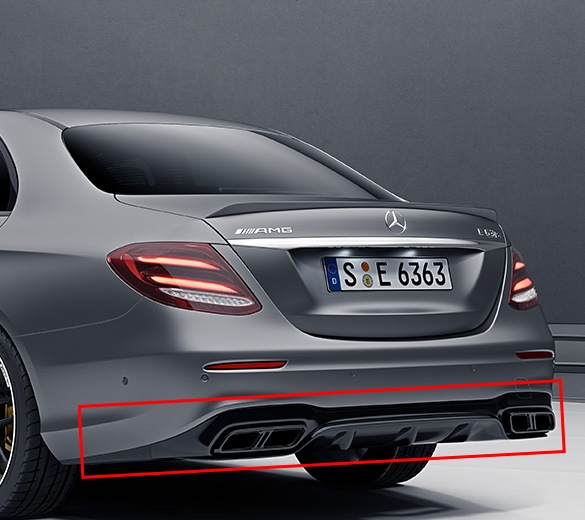 e63 amg s diffuser exhaust tips w213 genuine. Black Bedroom Furniture Sets. Home Design Ideas