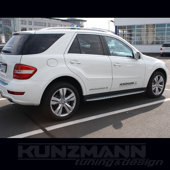 Amg running boards steel optic with rubber nubs m for 2009 mercedes benz ml350 running boards