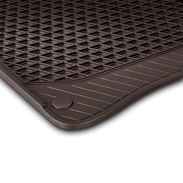 Rubber Floor Mats Espresso Brown Rear Seats S Class X222