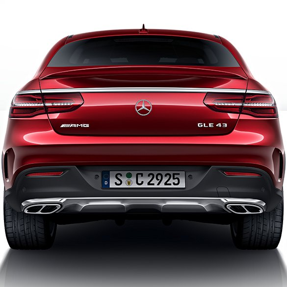 2016 Mercedes Benz Gle Coupe Suspension: GLE 43 AMG Exhaust Tips Black