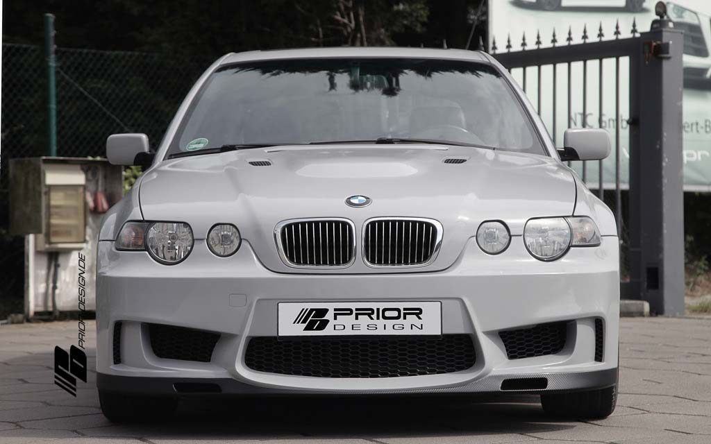 Prior Design Pd Mr Front Bumper Suitable For Bmw 3 Series E46 Compact Fl