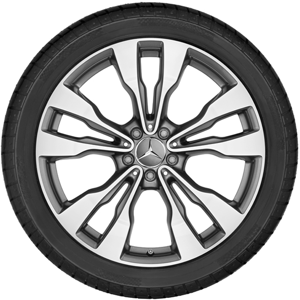 Original Mercedes Benz Gle Coupe C292 20 Inch Wheel Set 5 Twin Spoke